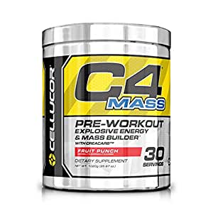 Cellucor C4 Mass Pre Workout Muscle Builder Supplement - 30 Servings