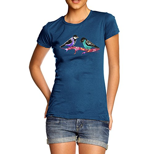 Damen Pretty Birds T-Shirt Königsblau