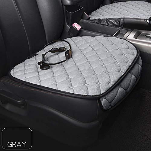 Z-overlord Autositz Heizung, Auto Beheizbare Sitzauflage 12V Sitzheizung Auto Heizauflage Temperatur Einstellbar Heizstufe universal Auto (Grau)