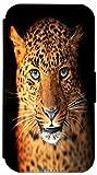 FioMi Flip Cover Hülle Samsung Galaxy S3 Mini Motiv 676 Leopard Braun Handy Tasche Etui Schutzhülle Flipcover Case Wallet Bookflip Buchflip (676)