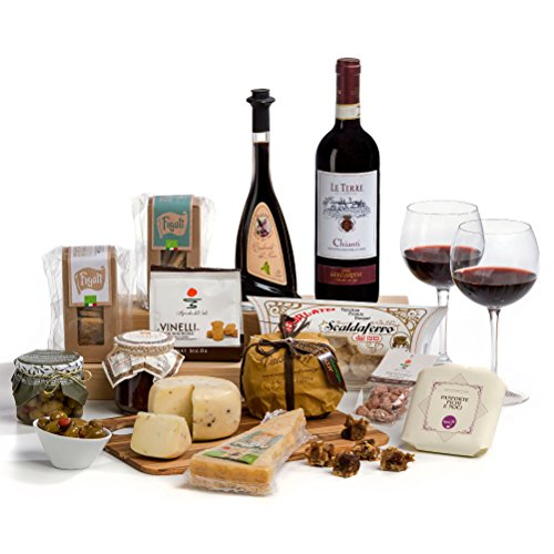 Formaggio - Gourmet Italian Cheese and Wine Hamper Box - FREE UK Delivery