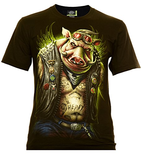en T-Shirt Schwarz Gr. XL Glow in The Dark ()