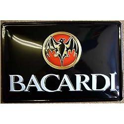 Blechschild Nostalgieschild - 20 x 30 cm schwere Qualität: Bacardi Fledermaus (quer)