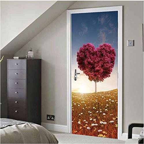 Blume Herz Baum Gras Sonne Licht Kreative Fenster Tür Aufkleber Garment Fenster Aufkleber...