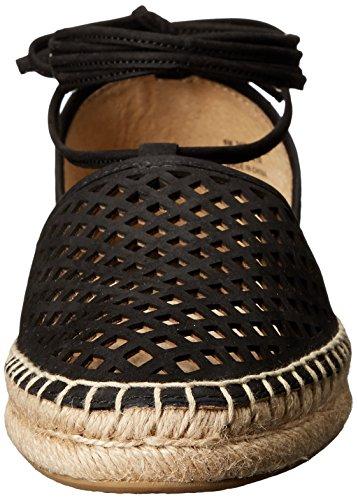 Frye Leo Perf 2 Piece Daim Chaussure Plate Black