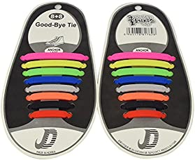 Aeoss Shoelaces 16 pcs / pair Athletic No Tying Soles Shoelaces Children Fashion Children's Shoes Slippers Laces Elastic Shoelace Silicone Fit Ribbon