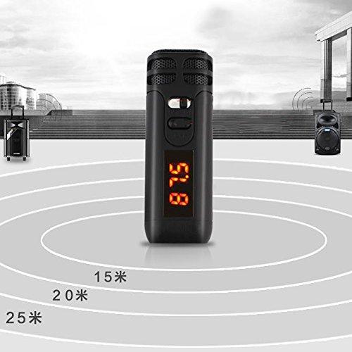 Cewaal Hanbaili (Black) J6-C Voice-Verstärker Loudspeaker-Mikrofon, für Lehrer, Trainer, Reiseleiter, Präsentationen, usw. Stereo-docking-system