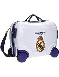 Real Madrid Rm Classic Kindergepäck, 41 cm, 25 liters, Weiß (Blanco)