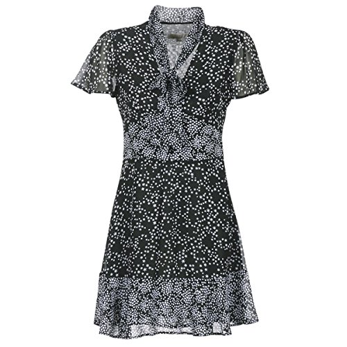 Michael MICHAEL KORS Star Mix Dress Kleider Damen Black - L - Kurze Kleider (Michael Frauen Kleider Kors)