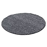 Round Carpets & Rugs Soft Shaggy für for Living Room various colors and sizes R-7500, Color:grey, Size:Ø 160 cm Round