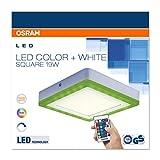 Osram LED Wand- und Deckenleuchte, Leuchte für Innenanwendungen, Warmweiß, 198,0 mm x 198,0 mm x 38,0 mm, LED Color und White für Osram LED Wand- und Deckenleuchte, Leuchte für Innenanwendungen, Warmweiß, 198,0 mm x 198,0 mm x 38,0 mm, LED Color und White