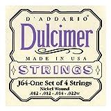 D\'Addario Cordes pour dulcimer 4 cordes D\'Addario J64