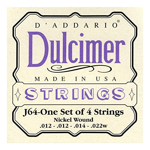 D\'Addario J64 Saitensatz für Ukulele, Dulcimer, Tenor Gitarre, Oud Dulcimer/4-String