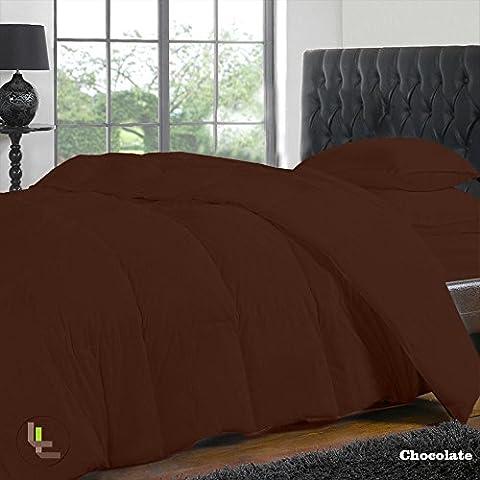1000TC Finition élégante Parure de lit 4pièces 100% Coton égyptien drap housse poche solide (Taille: 73,7cm), Coton, Chocolate Solid, EU_Double