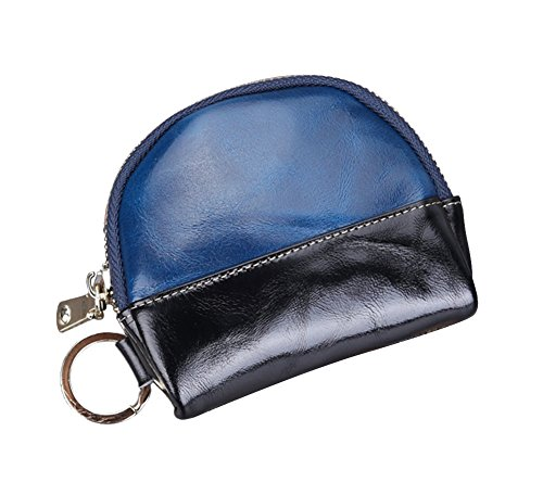 Genda 2Archer Unisex Pelle Porta monete zip Key Card Borsellino del denaro (Giallo) Blu