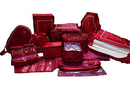 Glitter Saree Cover Wedding Gift, 14 Pcs Combo