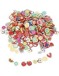 1000pcs Fruits Assortis Nail Art 3D Décorations en Pâte Polymère