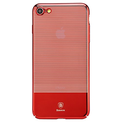 Mobiltelefonhülle - Baseus für iPhone 7 Luminary Case Kratzfestes Galvanik-PC Schutzhülle ( Farbe : Rot ) Rot