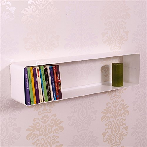 XXL DVD & BLU-RAY REGAL LOUNGE DESIGN CUBE von DESIGN DELIGHTS retro metall wand rack weiß