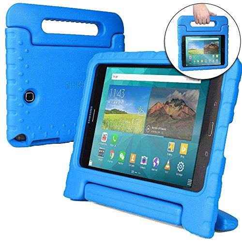 Funda Infantil Cooper Cases (TM) Dynamo para Samsung Galaxy Tab A 8.0 (SM-T350) en Azul + Protector de Pantalla gratuito (Ligera, absorción de impactos, Espuma EVA segura para los niños, Asa incorporada, y soporte para visionado)