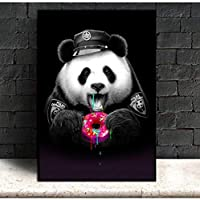 SCLPOSTER Cute Cartoon Posters And Prints Panda Animals Canvas Painting Nursery Baby Room Wall Art Picture For Living Room Kids Decoration M 32x40inch(80x100cm)