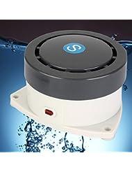 Bluelover Sonido de alto Decibel agua salida alarma hogar alarma luz Anti rebose