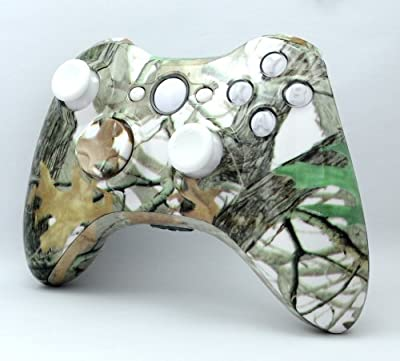 Jungle Camouflage Custom Hydro Dipped Wireless Xbox 360 Controller Shell