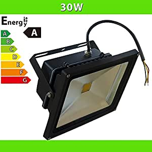 LEDVero 1x Projecteur LED 30W - noir