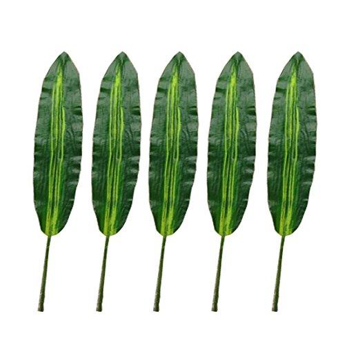 5 Stücke Simulation Dracaena Fragrans Blätter Artificail Gummi und Kunststoff Tuch Blätter