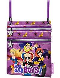 Karactermania DC Super Hero Girls Move Bolso Bandolera, 17 cm, Morado