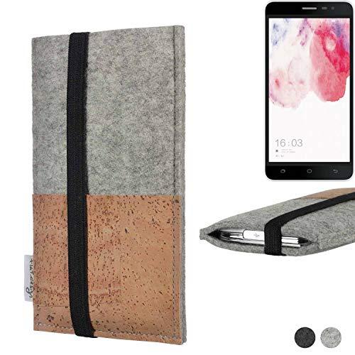 flat.design Handy Hülle Sintra für Hisense F20 Dual-SIM Handytasche Filz Tasche Schutz Kartenfach Case Kork