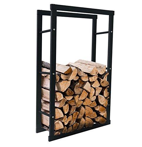 Solarnovo scaffale in metallo per legno da camino organizzazione porta legna da ardere interni per caminetto portatile (60*25*100cm)