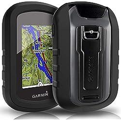 TUSITA Funda para Garmin eTrex Touch 25 35 35t - Funda Protectora de Silicona Skin - Accesorios de Mano GPS Navigator (Negro)