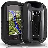 TUSITA Cas pour Garmin eTrex Touch 25 35 35t - Housse de Protection en Silicone Peau - Navigateur GPS Portable Accessoires (Noir)