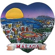 Málaga España Europa Ciudad del Mundo resina 3d fuerte imán para nevera recuerdo turista regalo chino