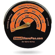 AUOKER Termómetro para Chimenea, termómetro magnético para Horno, Estufa, Tubo de Fuego.