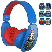 MindKoo Auriculares inalámbricos para niños, 6 Pegatinas de Dibujos Animados para la diversión y el
