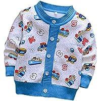 Famesale Baby Girl Cardigan Cardigan para Niños Otoño Jersey Cardigan Sweater Cardigan De Cuello Redondo Sweater Autumn Coat
