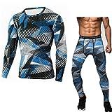 Z-Pertbil Les Hommes courent Les Costumes de Jogging Sports Set Long T Shirt Et...