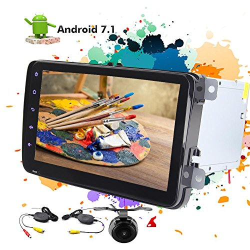 Double 2 Din In Dash CD DVD Player 8 Zoll kapazitive Touchscreen GPS-Navigation Stereo Android 7.1 Nougat Betriebssystem FM AM RDS Radio-Car Head Unit für Volkswagen + Wireless - Store Android-geschenk-karte Play