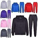 A2Z 4 Kids Kinder Mädchen Jungen Einfarbig Trainingsanzug Kapuzenpullover Hosen