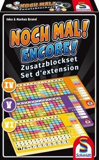 Schmidt-49345-Wrfelspiel-Noch-Mal Schmidt Spiele 49345 Noch Mal Zusatzblöcke (3 Stück) -