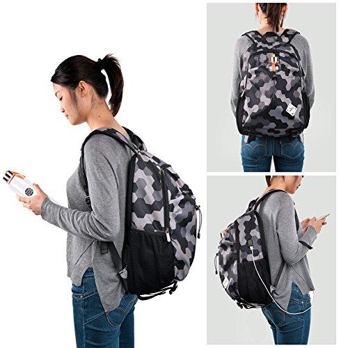 Imagen de vbiger ordenador  portátil oxford computadora hombro bolso casual colegio pantalón con cargando puerto gris  alternativa