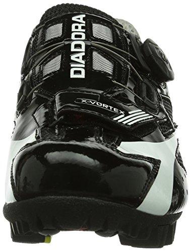 Diadora - X- Vortex, Scarpe da ciclismo Unisex – Adulto Schwarz (schwarz/weiß 6410)