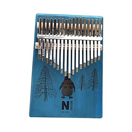 17 Tasten Kalimba Daumen Klavier Hohe Qualität Tragbare Cartoon-Muster Holz Mahagoni Korpus Musikinstrument Balight