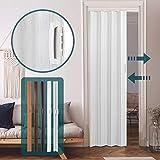 Falttür alternative Raumtrennung - 84x202cm, einwandig, in Eiche-Grau, Eiche-Dunkel, Kirsche, Nussbaum oder Weiß - Schiebetür, Faltwand, Nischentür, Zimmertür