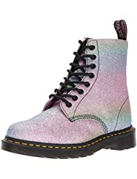 Dr Martens Women's Pascal Rainbow Glitter 8-Eye Lace Up Boot Multi-Multi-6 Size 6