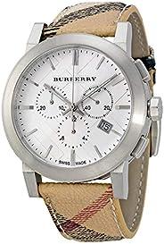 بيربري ساعة يد للرجال ، كرونوجراف ، جلد ، BU9360