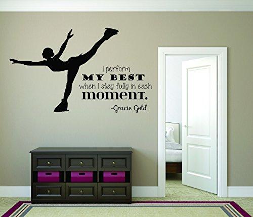 Design mit Vinyl Rad 7913I My besten, wenn ich bleiben vollständig in jeder Moment.–Gracie Gold Eislaufen Mädchen Schlafzimmer Zitat Teen Design Wand Aufkleber, Schwarz, 50,8x 76,2cm