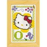 Vervaco - Kit para cuadro de punto de cruz, diseño de Hello Kitty con la letra O, multicolor
